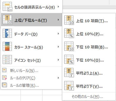 Excel_ボタン2上位下位ルール