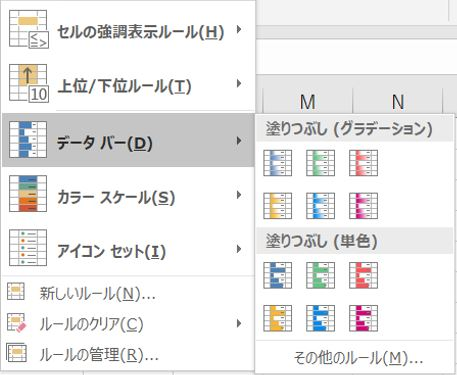 Excel_ボタン3データバー