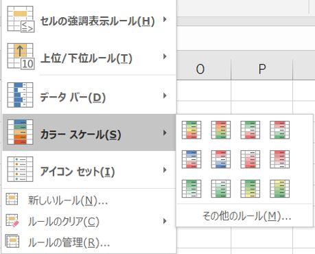 Excel_ボタン4カラースケール
