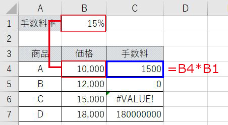Excel_手数料相対参照1