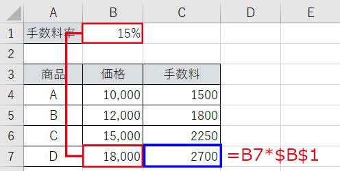 Excel_絶対参照オートフィル後
