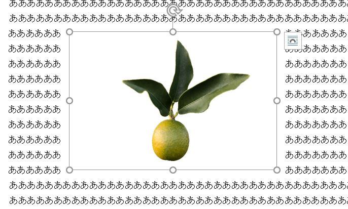 Word_文字列の折り返し四角形の状態