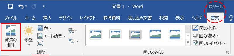 Word_背景削除ボタン