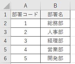Excel_部署コードマスタ