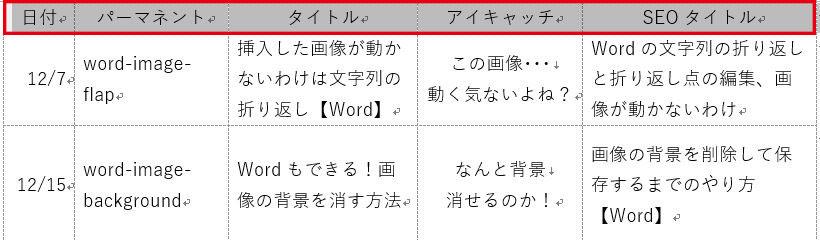 Word_表のタイトル行選択
