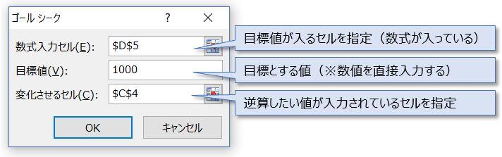 Excel_4ゴールシークダイアログボックス