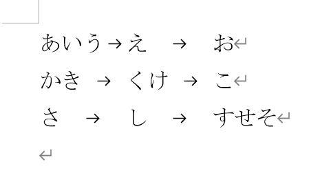 タブ区切りの文字列