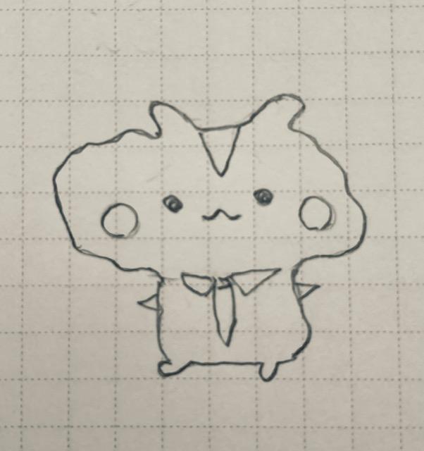 ノートに描いたキャラクター