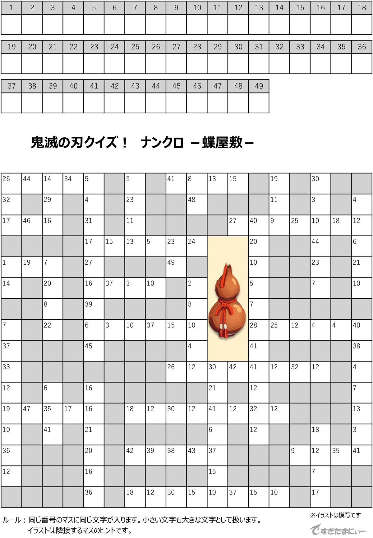 鬼滅の刃ナンクロ7_蝶屋敷
